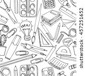 colorful school  pattern....   Shutterstock .eps vector #457251652