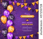 halloween background with... | Shutterstock .eps vector #457253728