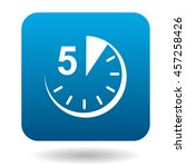 five minutes icon in flat style ... | Shutterstock .eps vector #457258426