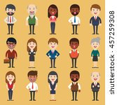 set of diverse business people. ... | Shutterstock .eps vector #457259308