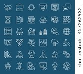 thin line icons set. flat... | Shutterstock .eps vector #457262932