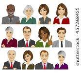set of business people avatar...   Shutterstock .eps vector #457268425