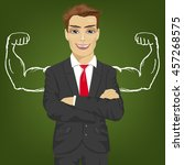 man teacher  salesman or...   Shutterstock .eps vector #457268575