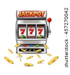 slot machine with lucky seven... | Shutterstock .eps vector #457270042