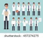 group of male doctors  medical... | Shutterstock .eps vector #457274275
