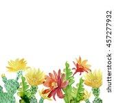 Watercolor Blooming Cactus...