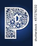 initial monogram letter p. may...