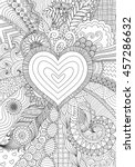 zendoodle design of heart shape