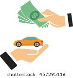 a person buys a car | Shutterstock .eps vector #457295116