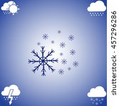 snowflake icon vector. flat...