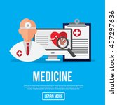 medicine  online doctor for... | Shutterstock .eps vector #457297636