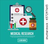 medical research. healthcare... | Shutterstock .eps vector #457297645