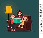 Mum Reads The Book To Children...