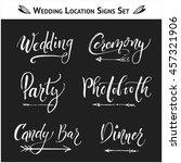 set of 9 wedding  birthday ... | Shutterstock .eps vector #457321906