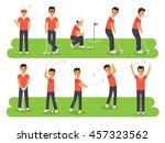 golf sport athletes  golf... | Shutterstock .eps vector #457323562