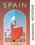 Vector Retro Poster. Spain....