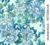 seamless pattern of asian blue... | Shutterstock .eps vector #457338118