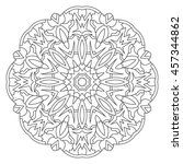 symmetrical circular pattern...   Shutterstock .eps vector #457344862