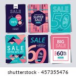 set of sale banner poster tag... | Shutterstock .eps vector #457355476