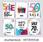 set of sale banner poster tag... | Shutterstock .eps vector #457355518