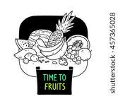 fruit  tropical food  vector... | Shutterstock .eps vector #457365028