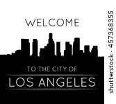 the city of los angeles. black... | Shutterstock .eps vector #457368355