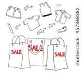 women clothes and accessories ... | Shutterstock .eps vector #457368382