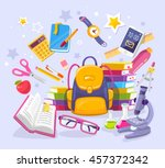 vector colorful illustration of ... | Shutterstock .eps vector #457372342