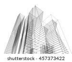 architecture abstract  3d... | Shutterstock . vector #457373422