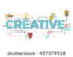 creative word lettering... | Shutterstock .eps vector #457379518