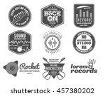 set of music production logo... | Shutterstock . vector #457380202