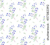 floral seamless pattern with... | Shutterstock . vector #457382392