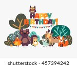 happy birthday   lovely vector... | Shutterstock .eps vector #457394242