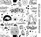 wonderful adventure pattern.... | Shutterstock .eps vector #457397218