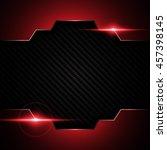 abstract metallic black red... | Shutterstock .eps vector #457398145