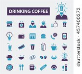 drinking coffee icons | Shutterstock .eps vector #457400272