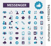 messenger icons | Shutterstock .eps vector #457400296