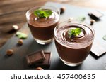 Chocolate Mousse With Mint In...