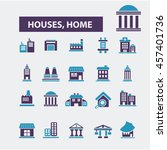houses  home icons | Shutterstock .eps vector #457401736