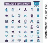 research development icons | Shutterstock .eps vector #457404142