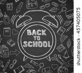 back to school vector sketch... | Shutterstock .eps vector #457405075