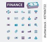 finance icons | Shutterstock .eps vector #457406722