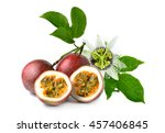 passion fruit isolated on white ... | Shutterstock . vector #457406845