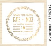 save the date  wedding... | Shutterstock .eps vector #457407862
