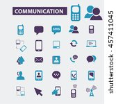 communication icons | Shutterstock .eps vector #457411045