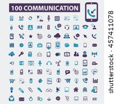 communication icons | Shutterstock .eps vector #457411078