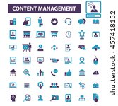 content management icons | Shutterstock .eps vector #457418152