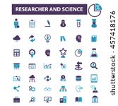 researcher and science icons | Shutterstock .eps vector #457418176