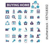 buying home icons | Shutterstock .eps vector #457418302