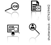 job search icons | Shutterstock .eps vector #457419442